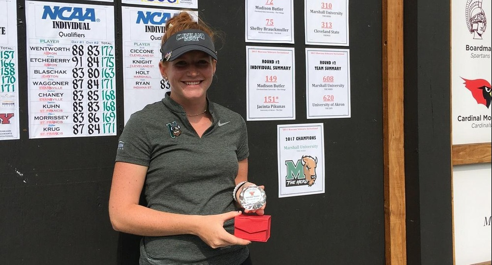 Butler Claims Medalist Honors as Vikings Finish Third at Roseanne Schwartz Invitational