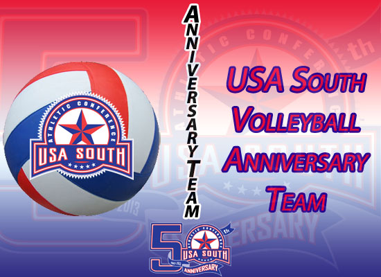 USA South Announces 50th Anniversary Volleyball Team