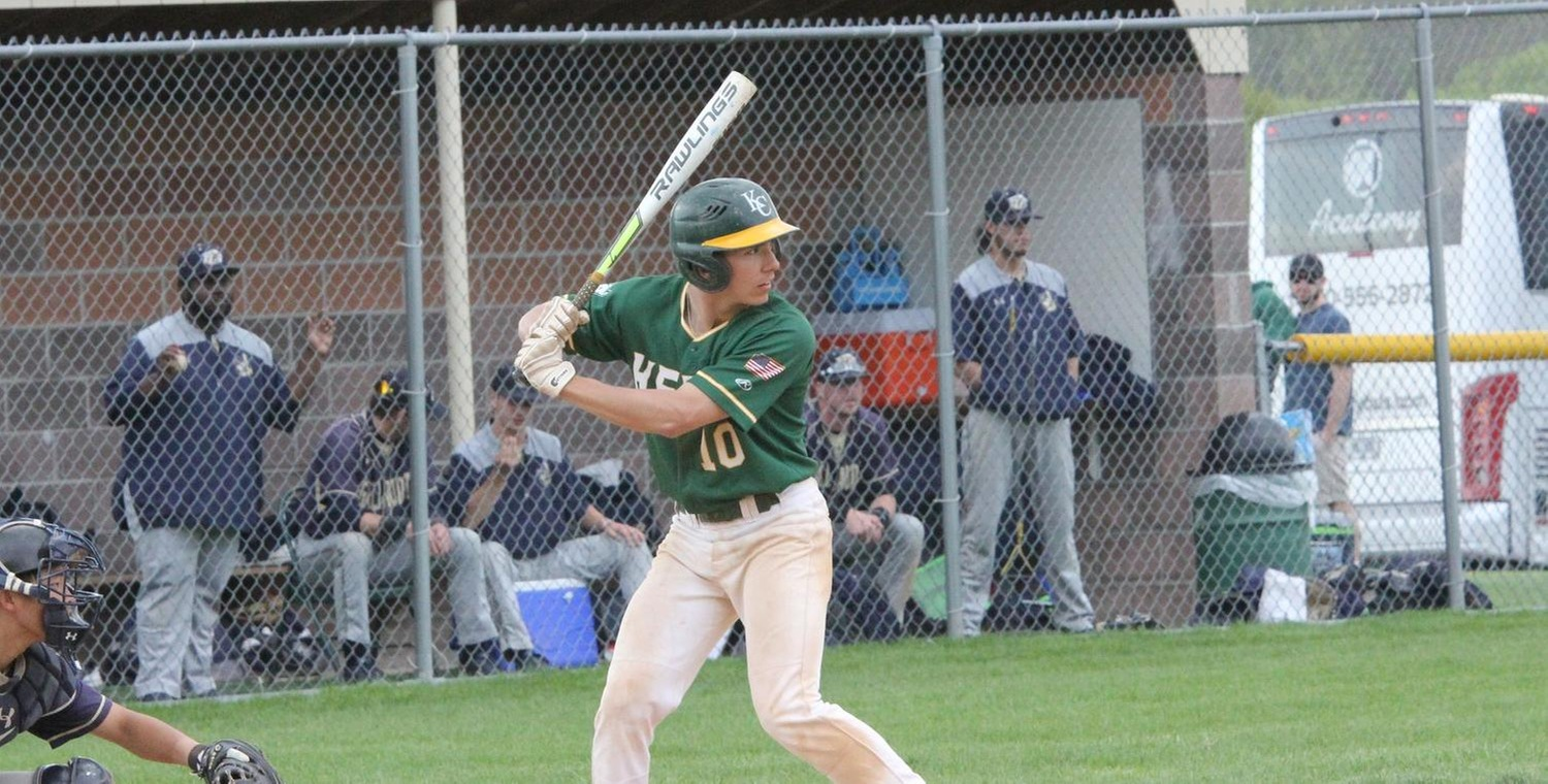John Rizzo (10) had 5 hits in Game 1, hitting for the cycle with a single, double, two triples, and a home run