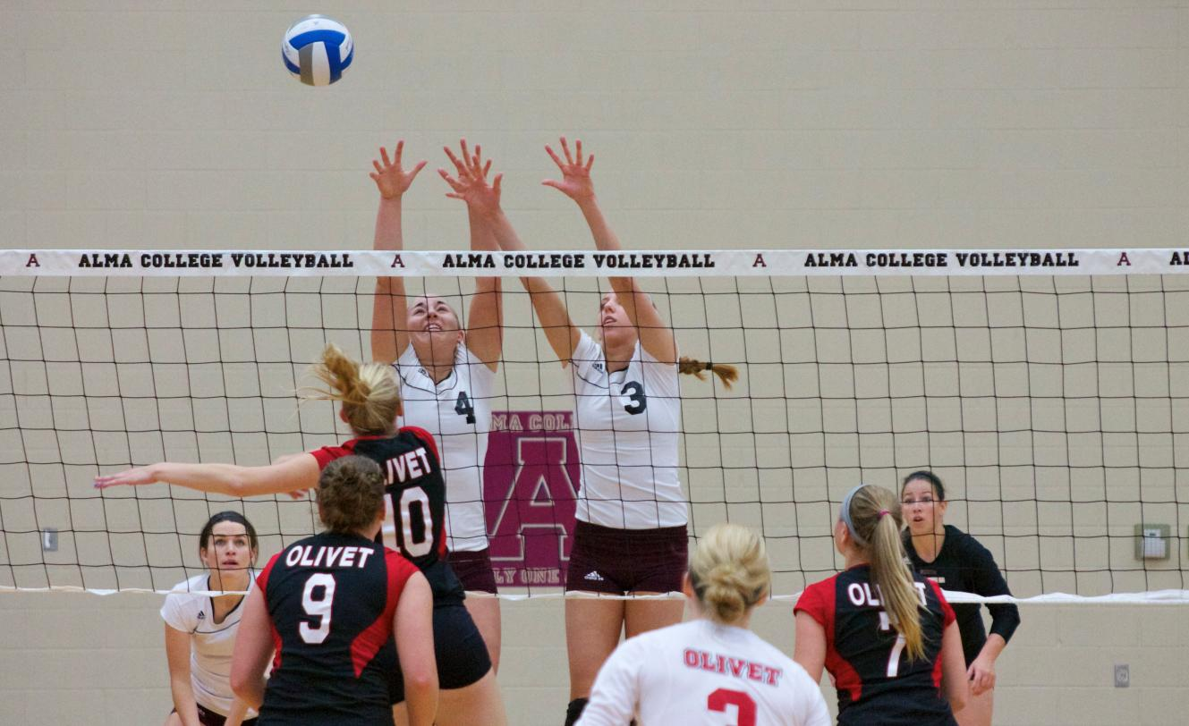 Alma Volleyball wins 3-0 (33-31, 25-15, 25-17) over Olivet on Saturday afternoon