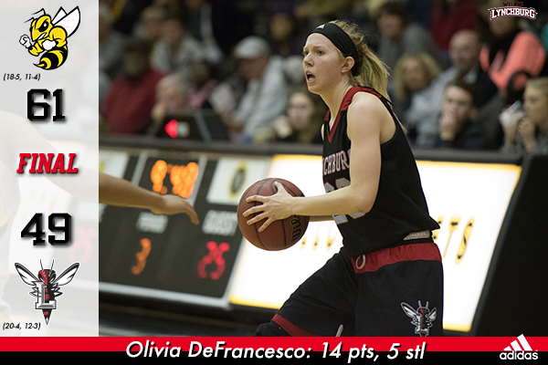 Olivia DeFrancesco passes the basketball.