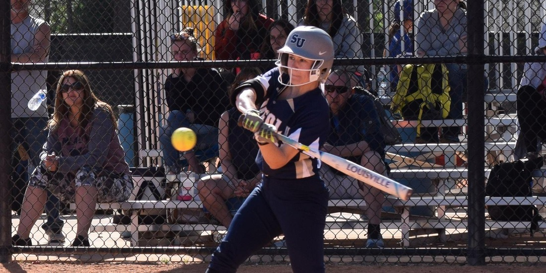 Softball Routs Regis, 9-1, in Five Innings to Open Twinbill