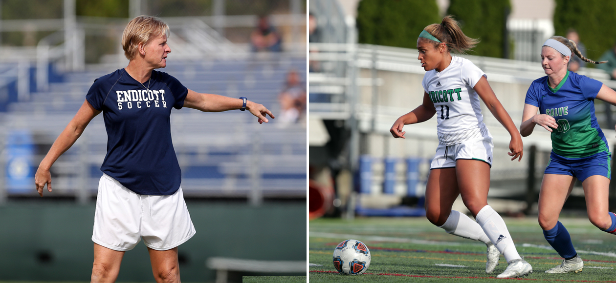 Split image of Coach Kenyon and Kadrianna Letts.