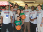 Men's Basketball Spends Mother's Day With Courageous Kids