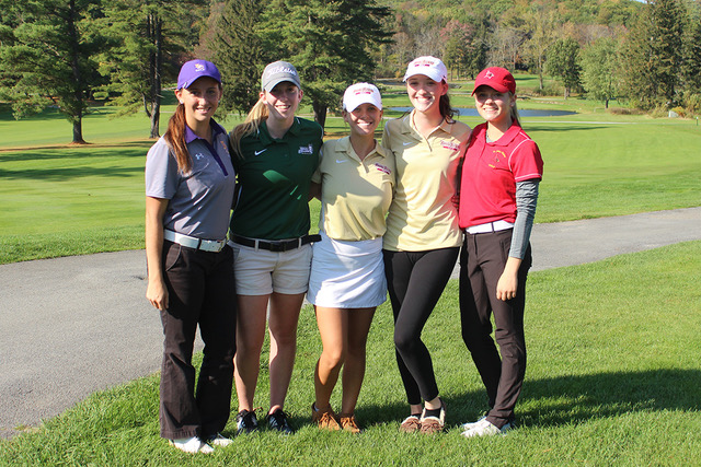 Holly Reynolds (second from left) earned Second Team All-Empire 8