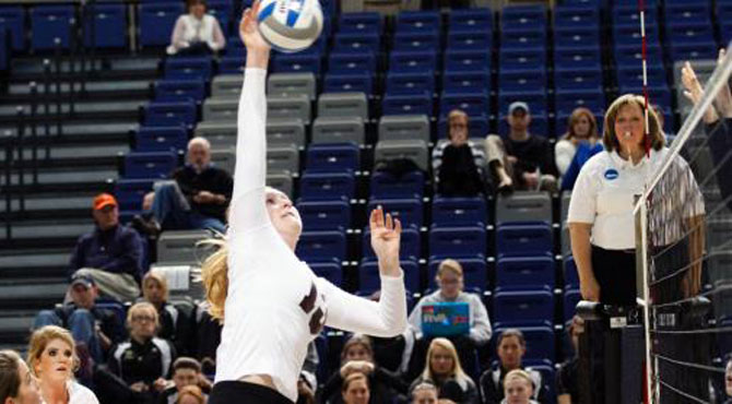 Trinity Falls in NCAA Volleyball First Round Playoff Match