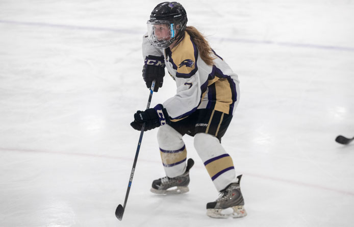 Women's Ice Hockey Wraps Up First Semester with Loss at the University of New England