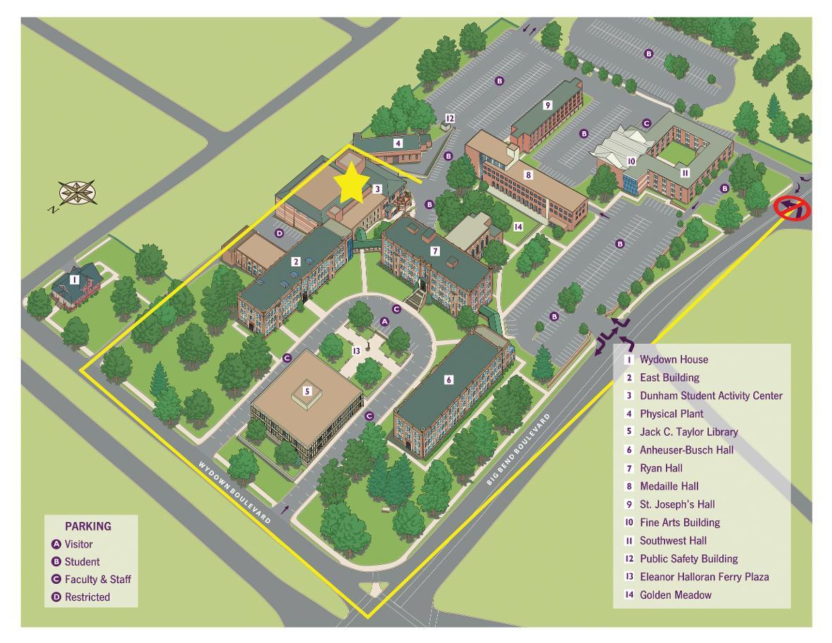 Wartburg College Campus Map.Fontbonne Athletics