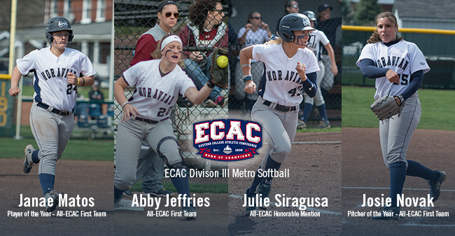 Matos, Novak, Jeffries & Siragusa Honored as ECAC DIII Metro All-Stars; Matos & Novak Garner Major Awards
