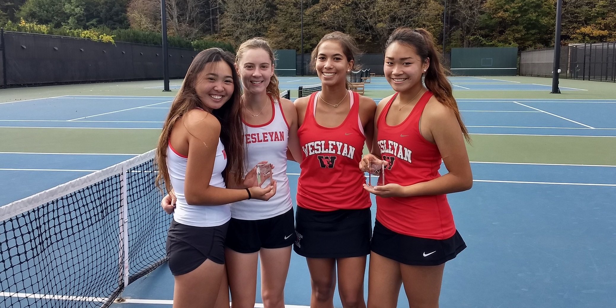 Women's Tennis Claims Pair of Doubles Titles at NEWITT's