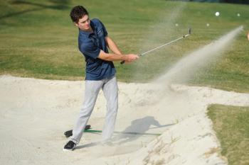 Golf Practice Facility Sand Shot