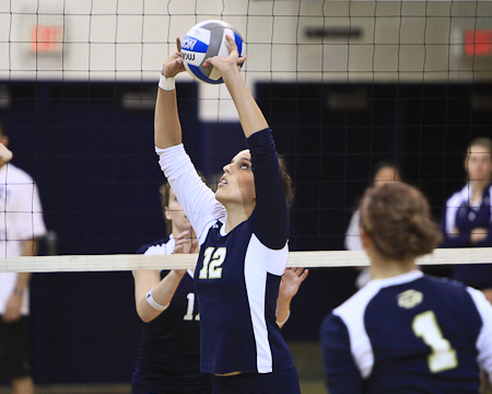 Bison 12-match win streak ends as Catholic defeats Gallaudet in five sets