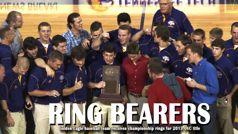 Golden Eagle baseball team accepts 2013 championship rings