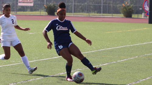 Freshman Jasmine Collier scored Citrus' only goal in their loss at Bakersfield.