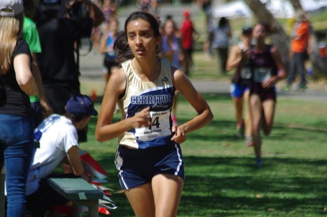 Adriana Velasco was the first Falcon to finish the race