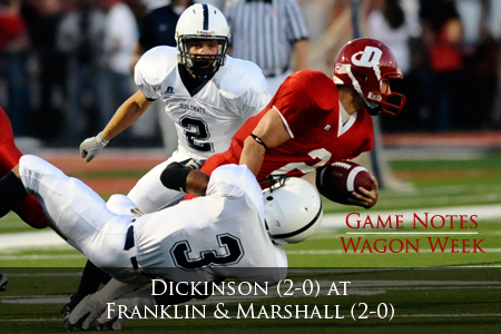 Wagon Week: Dickinson (2-0) at Franklin & Marshall (2-0)