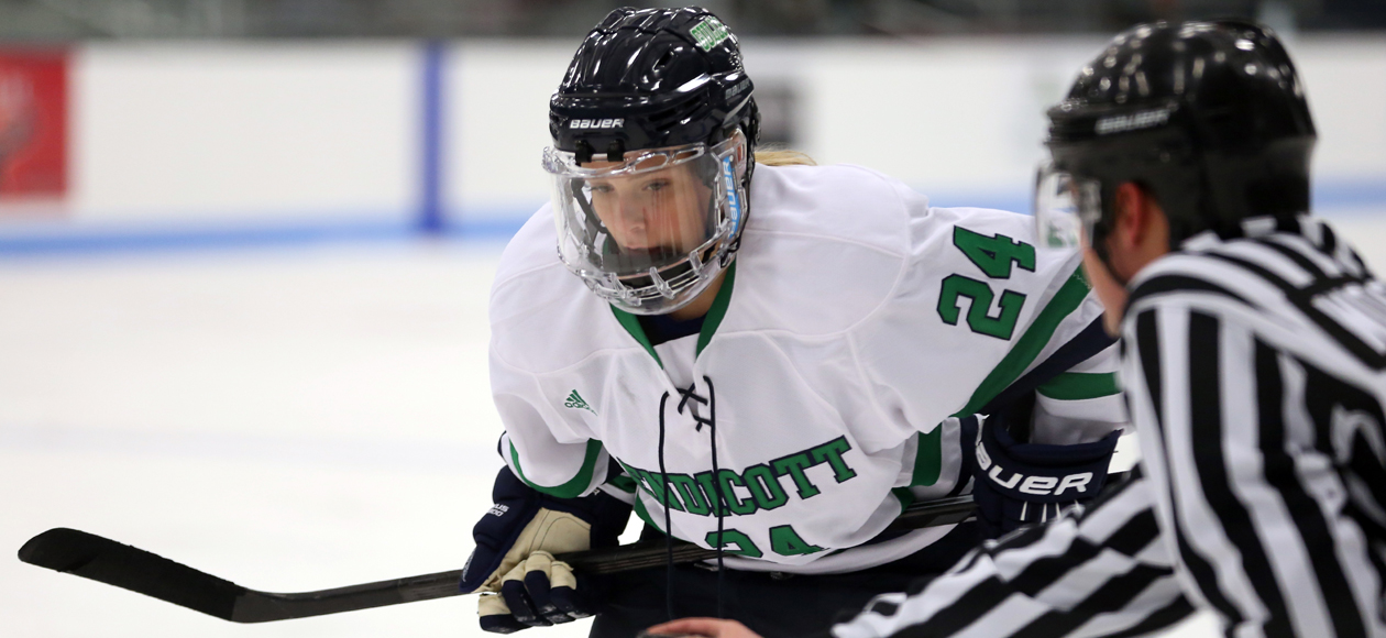 Perry Nets Hat-Trick, Women's Ice Hockey Defeats Salem State, 6-1
