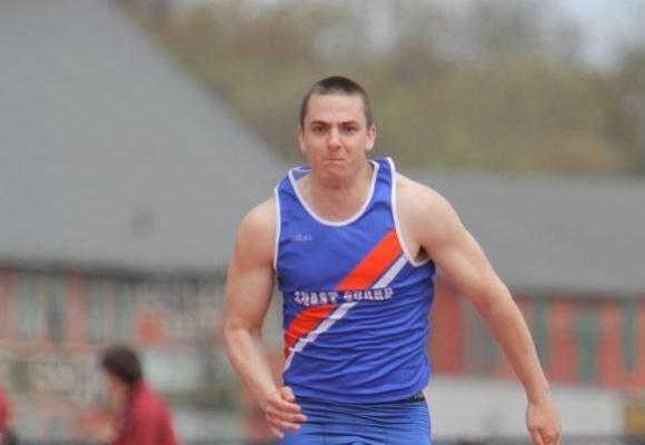 Kosack Runs Personal Best in 100 Meters at Holy Cross Decathlon