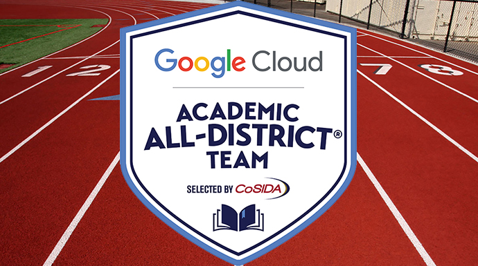 Three Named Track and Field CoSIDA Google Cloud Academic All-District
