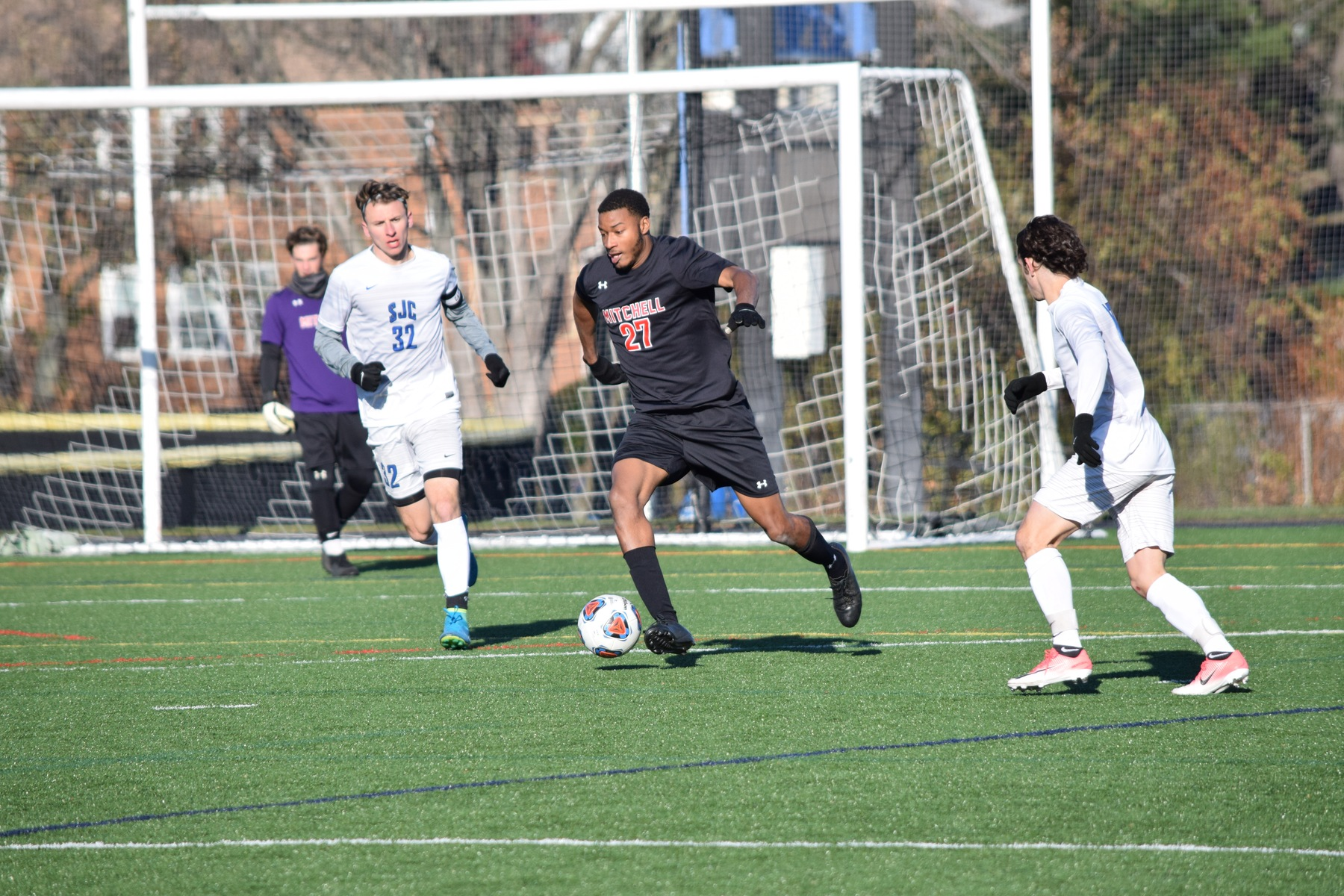 Men's Soccer Falls 2-1 to SJC in NCAA Debut