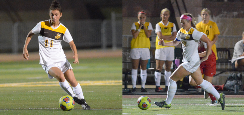 Junior three-time All-OAC forward Rachel Bender and senior two-time All-OAC midfielder Alex Elliott