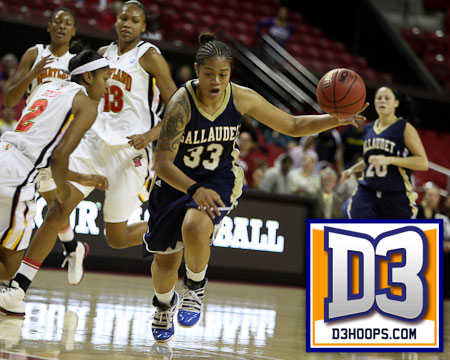 Gallaudet's Easter Faafiti on the D3hoops.com Team of the Week for a third time this season