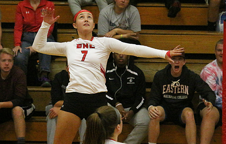 Women's Volleyball Claims 3-2 Come-From-Behind Victory Over Plymouth State