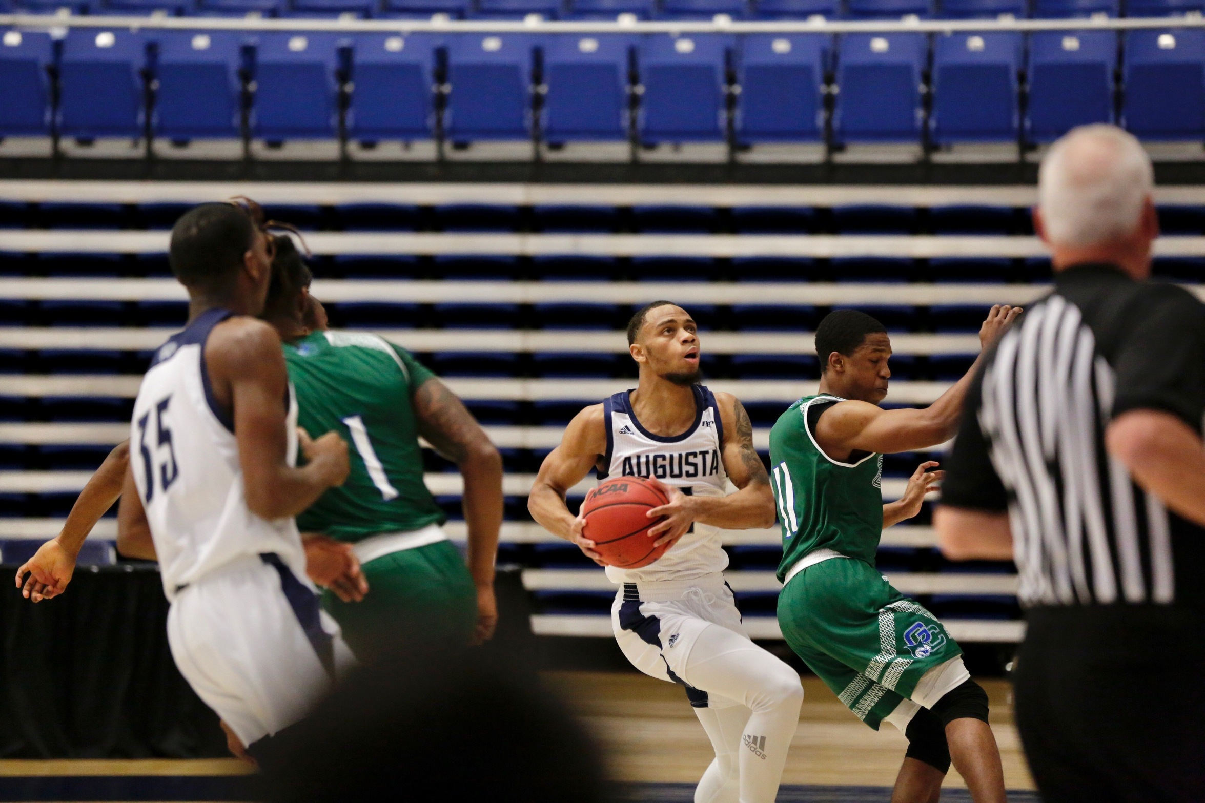 Darren Lucas-White Leads Shorthanded Augusta Team to Victory Over Georgia College