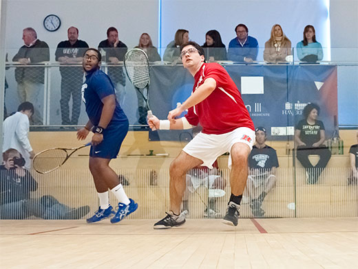 Men's squash sweeps through visiting Swarthmore