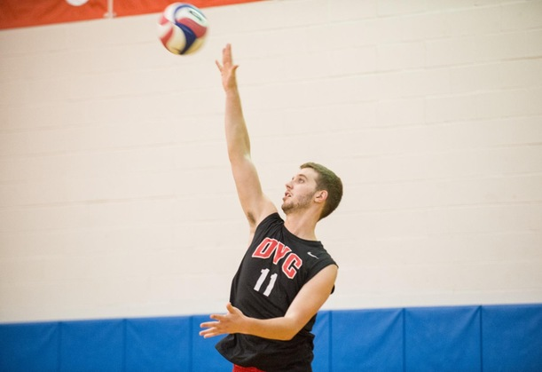 Men's Volleyball Drops First Match of Weekend at Elmira