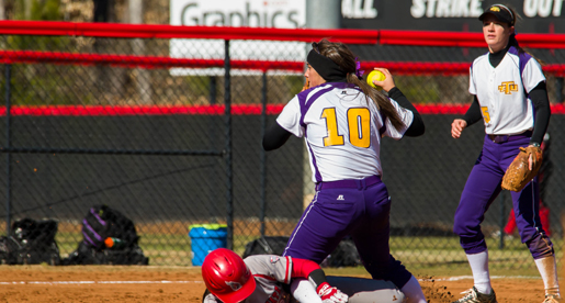 Clutch defense leads to 2-0 win in nightcap as softball team splits games