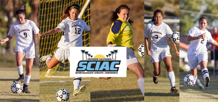 Oxy Women's Soccer Gets Five Recognized by SCIAC