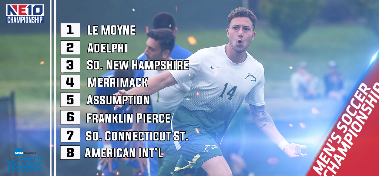 Adelphi, Le Moyne Reign as Co-Regular Season Champs; NE10 Men's Soccer Bracket Announced