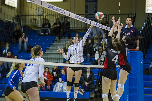 WOMEN'S VOLLEYBALL FALLS TO UNDEFEATED PANTHERS