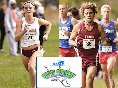 FSU's Tina Muir (left) placed first while Steve Neshkoff (right) was 43rd overall for FSU