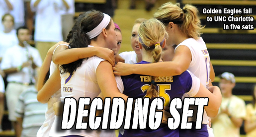 Golden Eagles put together strong effort in their five-set loss to UNC Charlotte