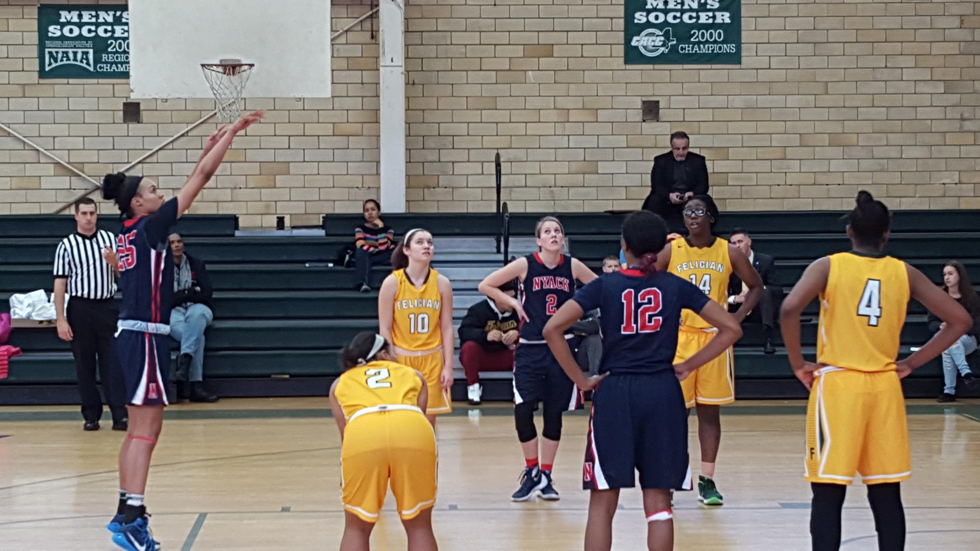 Lady Warriors Rally from 16 point Deficit to Defeat Felician College