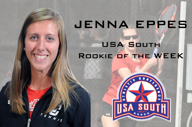 Women's Tennis: Jenna Eppes selected as USA South Rookie of the Week