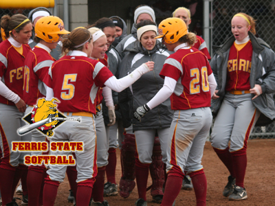 Ferris State's home doubleheader against Northwood will take place next Tuesday, April 26, starting at 3 p.m. (EDT).  (Photo by Eric Carlson)