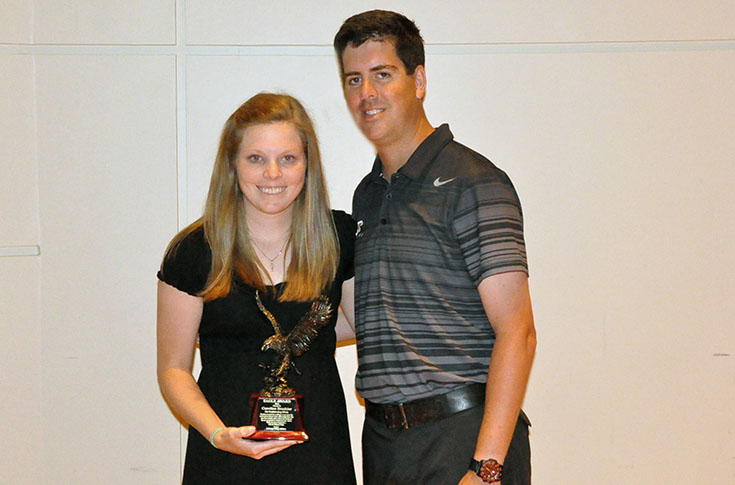 Women's Tennis: Brashier receives athletic department's Eagle Award