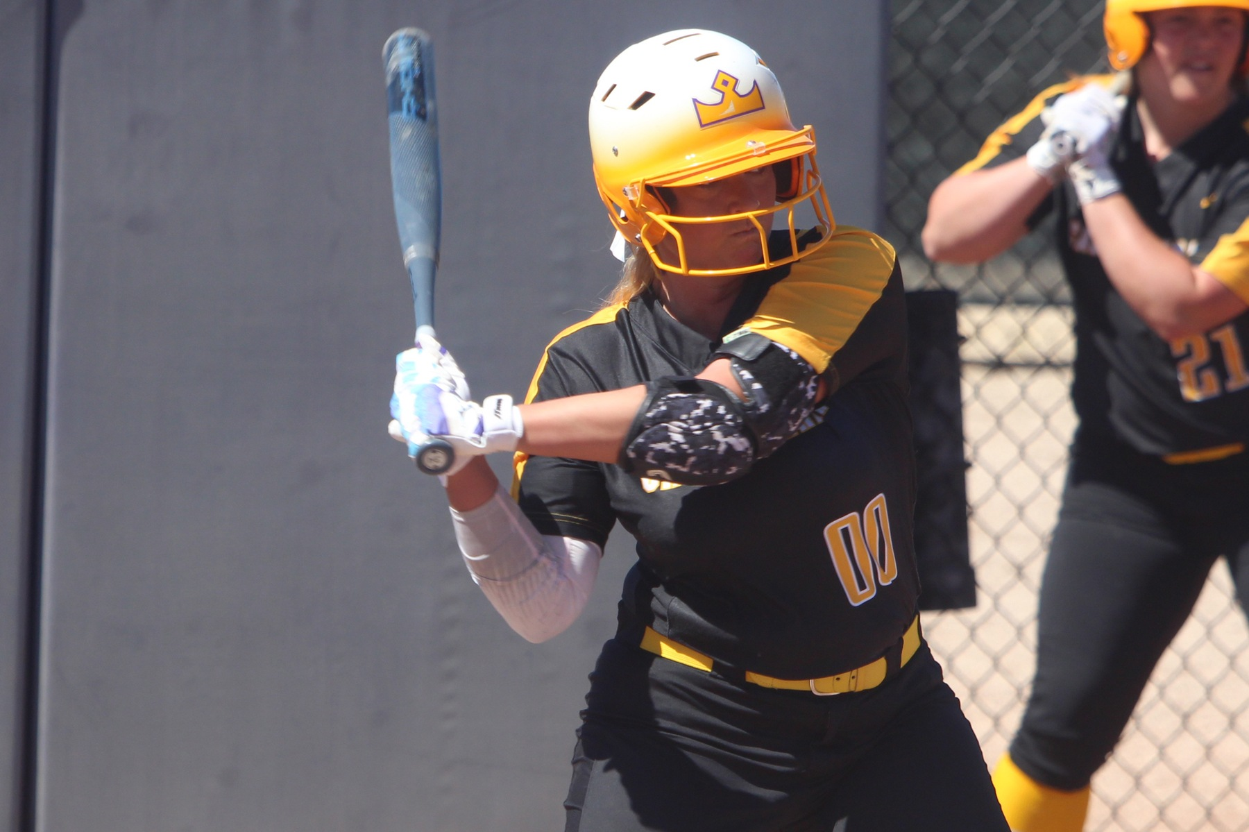 Rachel Barker hit her first home run with Cal Lutheran.