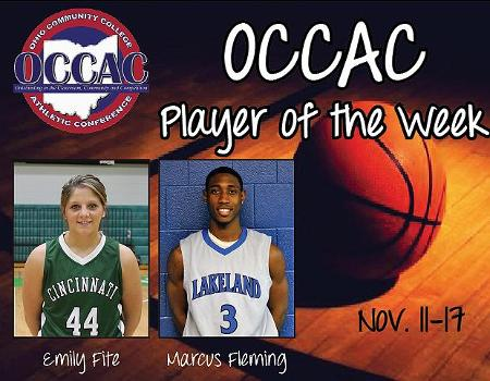 Fleming, Fite Named OCCAC Basketball Players of the Week