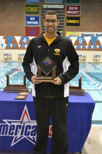 Hussein Claims the 200 IM for UMBC Swimming and Diving on First Day of Patriot Invitational