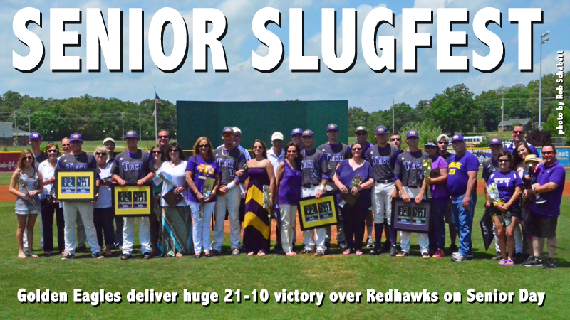 Golden Eagle bats deliver massive 21-10 Senior Day victory