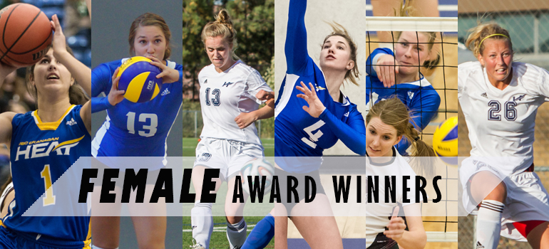Female Award Winners for the 7th Annual Athletics Awards Banquet