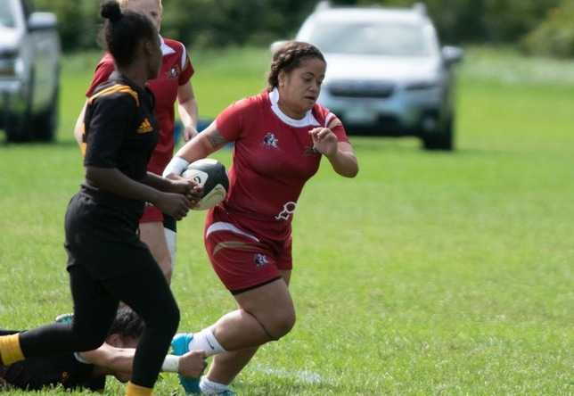 Fuatino Simi women's rugby action