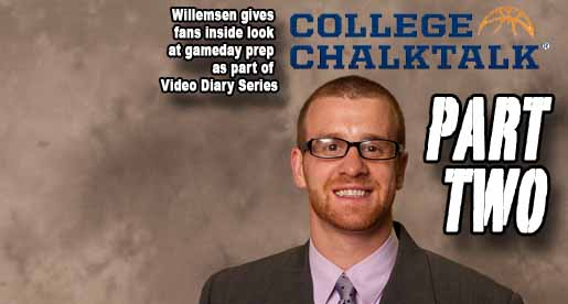 "Willemsen's ""Video Diary Series"" gives fans inside look at gameday"