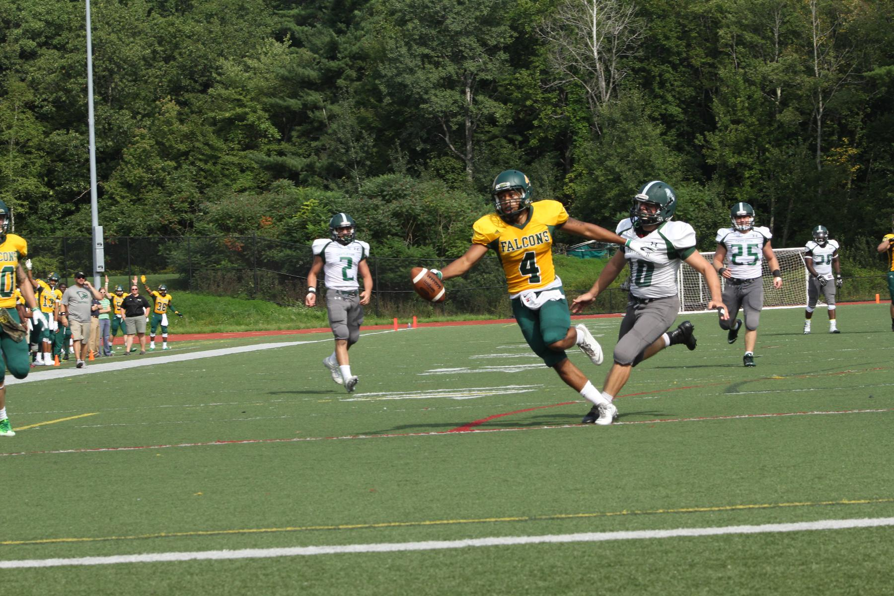 Fitchburg State Rolls Past Castleton, 31-10