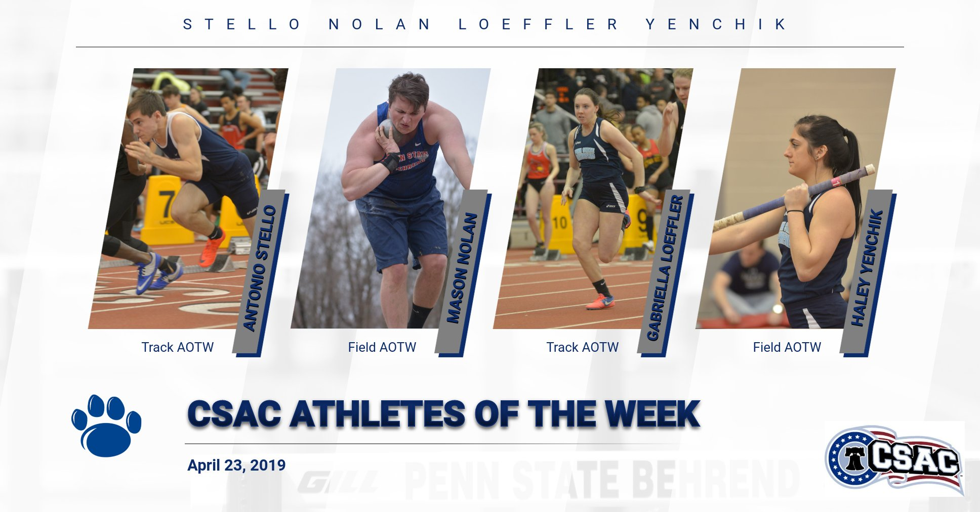 Four Named CSAC Athletes of the Week