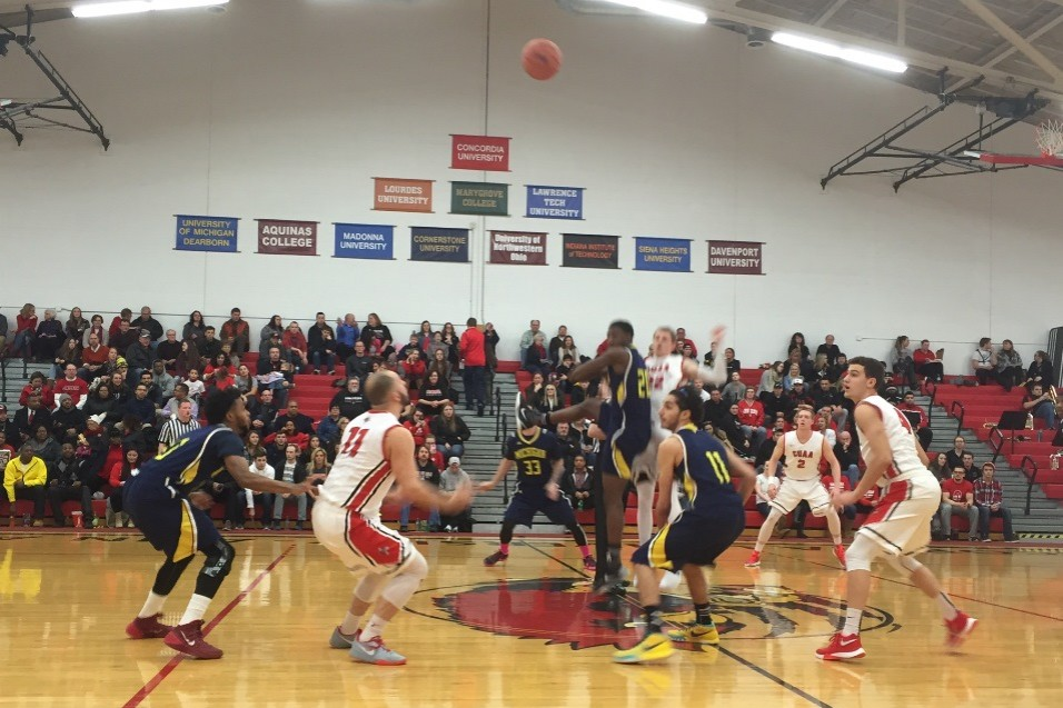 The opening tip between Michigan-Dearborn and Concordia (Photo Courtesy of Jeramy Stover)